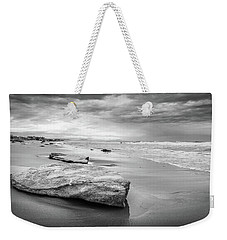 Rocks On A Sandy Beach. Weekender Tote Bag
