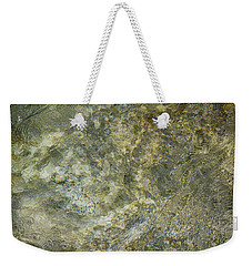 Weekender Tote Bag featuring the photograph Rocks Under The Soca River - Slovenia by Stuart Litoff