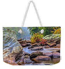 Weekender Tote Bag featuring the photograph Rockscape by Tom Cameron