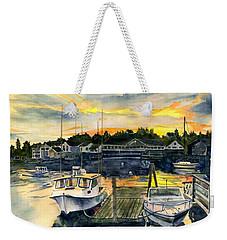 Rocktide Sunset Weekender Tote Bag by Melly Terpening