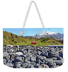 Weekender Tote Bag featuring the photograph Rocky Beach Iceland by Edward Fielding