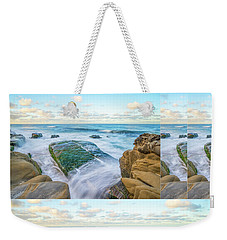 Rocky Coast Collage Weekender Tote Bag