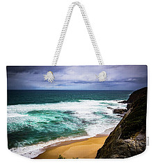 Weekender Tote Bag featuring the photograph Rocky Coast by Perry Webster