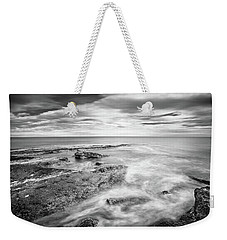 Weekender Tote Bag featuring the photograph Rocky Coastline La Mata by Gary Gillette
