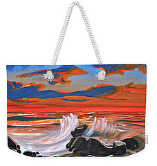 Rocky Cove Weekender Tote Bag by Donna Blossom