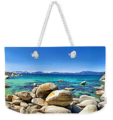 Rocky Cove Sand Harbor Weekender Tote Bag