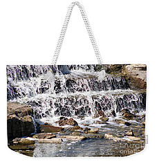 Weekender Tote Bag featuring the photograph Rocky Creek by Ella Kaye Dickey