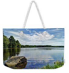 Rocky Fork Lake Weekender Tote Bag by Cricket Hackmann