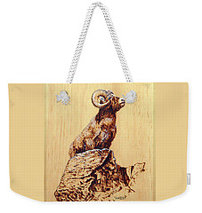 Rocky Mountain Bighorn Sheep Weekender Tote Bag by Ron Haist