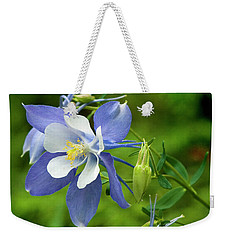Rocky Mountain Blue Columbine Weekender Tote Bag