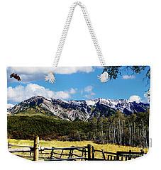 Rocky Mountain Eagle Soars Weekender Tote Bag