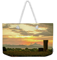 Weekender Tote Bag featuring the photograph Rocky Mountain Front Range Country Landscape by James BO Insogna