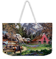 Rocky Mountain Ranch Weekender Tote Bag by Ron Chambers