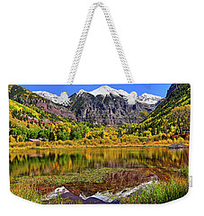 Weekender Tote Bag featuring the photograph Rocky Mountain Reflections - Telluride - Colorado by Jason Politte