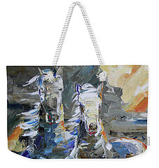 Rocky Mountain Sunrise Weekender Tote Bag