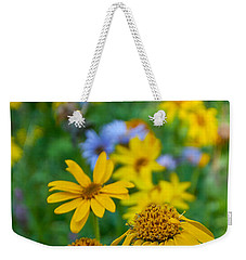 Weekender Tote Bag featuring the photograph Rocky Mountain Wildflowers by Cascade Colors