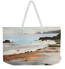 Rocky Neck Beach At Sunset Weekender Tote Bag