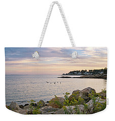 Rocky Neck State Park Blue Hour Weekender Tote Bag
