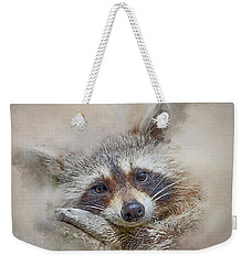 Weekender Tote Bag featuring the photograph Rocky Raccoon by Brian Tarr