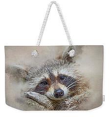 Rocky Raccoon Weekender Tote Bag