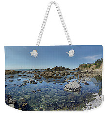 Rocky Sea Panorama Weekender Tote Bag