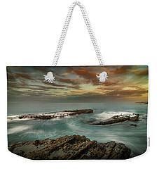 Rocky Shores At Victoria Beach Weekender Tote Bag