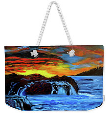 Rocky Shores Weekender Tote Bag by Jenny Lee