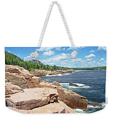 Rocky Summer Seascape Acadia National Park Photograph Weekender Tote Bag by Keith Webber Jr