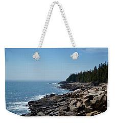Rocky Summer Shore Weekender Tote Bag