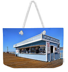 Weekender Tote Bag featuring the photograph Rod Rental At The Pismo Beach Pier by Floyd Snyder
