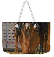 Rodeo Horse Weekender Tote Bag by Lori Brackett