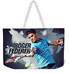Roger Federer Weekender Tote Bag by Semih Yurdabak