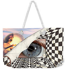 Weekender Tote Bag featuring the digital art Roll Back by Darren Cannell