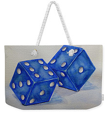 Weekender Tote Bag featuring the painting Roll The Dice by Kelly Mills