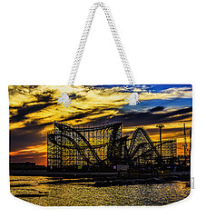 Roller Coaster Sunset Weekender Tote Bag