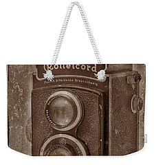 Weekender Tote Bag featuring the photograph Rollie by Keith Hawley
