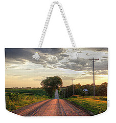 Rolling Down A Country Road Weekender Tote Bag