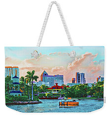 Rolling Down The New River Weekender Tote Bag