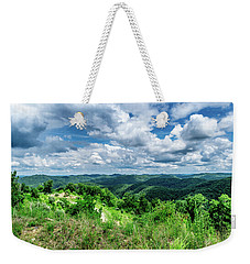 Rolling Hills And Puffy Clouds Weekender Tote Bag