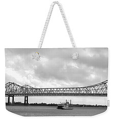 Weekender Tote Bag featuring the photograph Rolling On The River by Beth Vincent