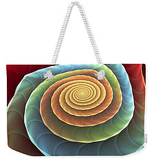 Weekender Tote Bag featuring the digital art Rolling Spiral by Anastasiya Malakhova
