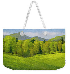 Weekender Tote Bag featuring the painting Rolling Spring Pastures  by Frank Wilson