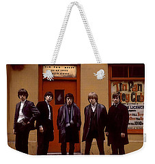 Weekender Tote Bag featuring the painting Rolling Stones Tin Pan Alley Brian Jones by Iconic Images Art Gallery David Pucciarelli