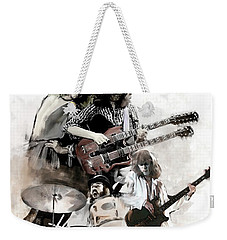 Rolling Thunder Led Zeppelin Weekender Tote Bag by Iconic Images Art Gallery David Pucciarelli