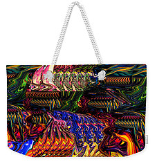 Rolling Vibration Weekender Tote Bag