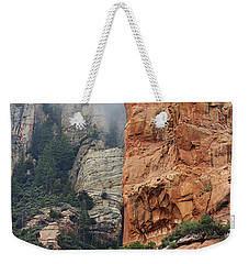 Weekender Tote Bag featuring the photograph Rollings Mists by Phyllis Denton