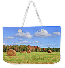 Rolls Of Hay On A Beautiful Day Weekender Tote Bag