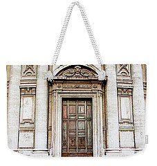 Weekender Tote Bag featuring the photograph Roman Doors - Door Photography - Rome, Italy by Melanie Alexandra Price