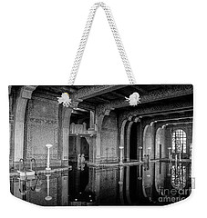 Roman Pool, Black And White Weekender Tote Bag