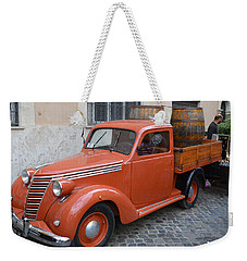 Roman Street Parking And Shopping Weekender Tote Bag
